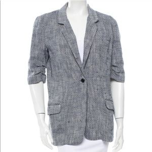 Elizabeth and James speckled wool tweed blazer 6